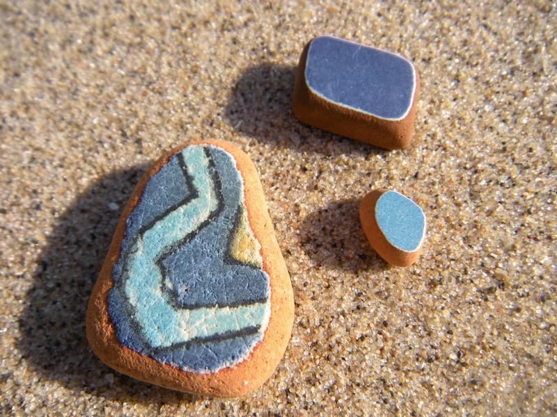lake michigan beach glass-tile, beach, pottery, shards, wisconsin, michigan, lake, beach, sand, water, Mexico, pottery, art, collection, coastal, coastal decor, nautical decor, beach walking, beachcombing,