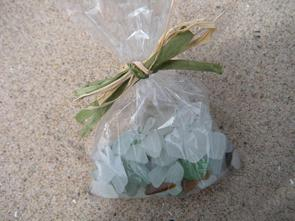 lake michigan beach glass-bag, beach glass, sea glass, gift, lake michigan, wisconsin, wrapped, sampler, coastal, tropical, coastal decor, nautical decor, beach walking, beachcombing, glass, colors, white, green, aqua, brown, blue, Lake Michigan, Great LAkes, Florida, Mexico, travel,