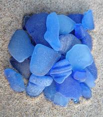 lake michigan beach glass-sea glass, cobalt blue, sunflower blue, beach, bulk, photos